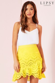 Lipsy Broderie Mini Skirt