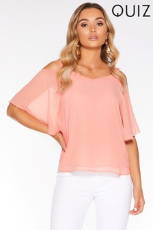 Quiz Chiffon Bow Detail Top