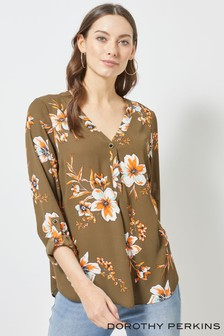 Dorothy Perkins Floral One Button Roll Sleeve Shirt