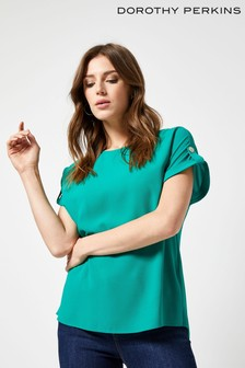 Dorothy Perkins Plain Button Top