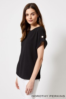 Dorothy Perkins Plain Button Tee