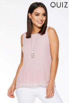 20a9aaaee8825 Quiz Sleeveless Necklace Top