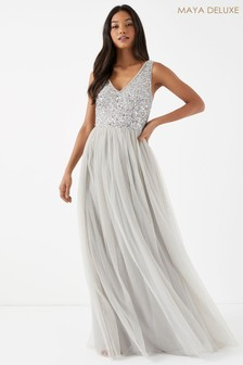 Maya Sequin Bodice Sleeveless Maxi Dress