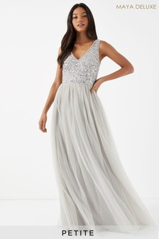 Maya Petite Sequin Bodice Sleeveless Maxi Dress