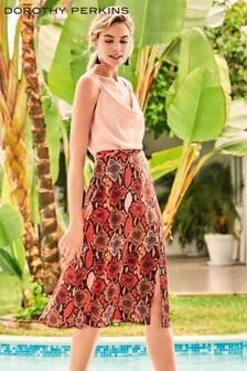 Dorothy Perkins Co-Ord Snake Print Midi Skirt