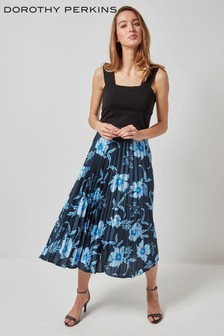 Dorothy Perkins Floral Pleated Midi Skirt