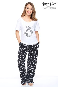 Want That Trend Bride to Be Pyjama Set