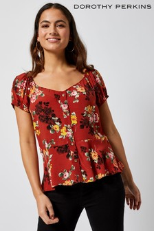 3048c8dfbed79a Dorothy Perkins Petite Floral Top