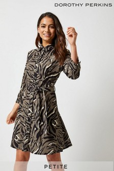 Dorothy Perkins Petite Animal Print Shirt Dress