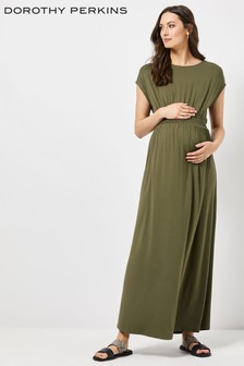 Dorothy Perkins Maternity Shirred Jersey Maxi Dress