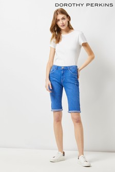 Dorothy Perkins Tall Denim Knee Shorts