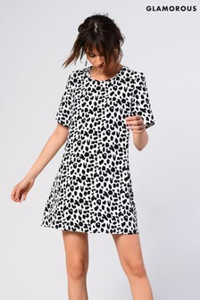 Glamorous Animal Print Shift Dress