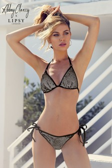 Abbey Clancy x Lipsy Sequin Bikini Top