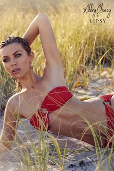 Abbey Clancy X Lipsy Ribbed Bandeau Bikini Top