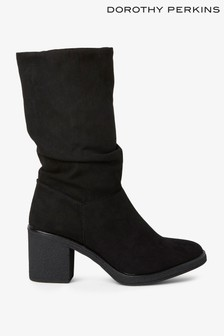 Dorothy Perkins Ruched Mid Length Boot