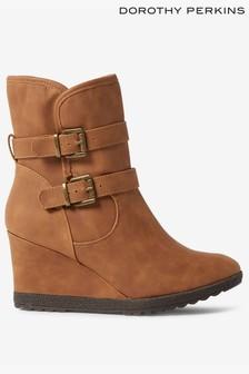 Dorothy Perkins Wedge Heel Ankle Boots