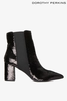 Dorothy Perkins Sequin Pointed Ankle Boot