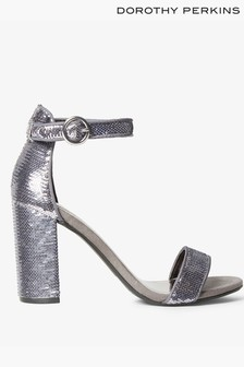 Dorothy Perkins Sequin Barely There Block Heel