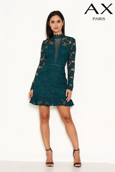AX Paris Crochet Frill Hem Dress