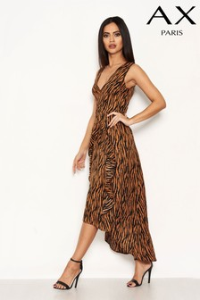 AX Paris Zebra Print Frill Dress