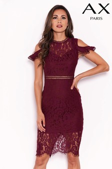 AX Paris Cold Shoulder Lace Dress