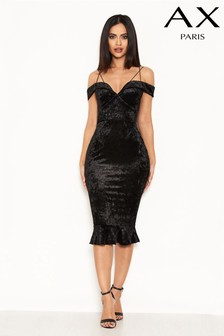 AX Paris Velvet Sweetheart Midi Dress