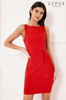 Lipsy Paneled Midi Dress