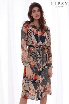 Sukienka koszulowa z naszywką w kwiatki Lipsy Petite
