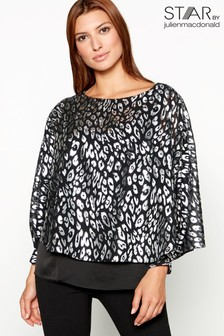 Star By Julien Macdonald Animal Print Top