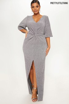 PrettyLittleThing Curve Sparkly Maxi Dress