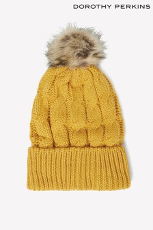 Dorothy Perkins Cable Knit Pom-Pom Hat