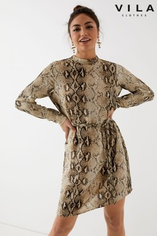 שמלה עם שרוולים ארוכים של Vila