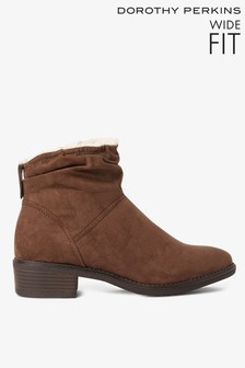 Dorothy Perkins Wide Fit Ruched Ankle Boots