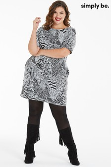 Simply Be Zebra Print Shift Dress