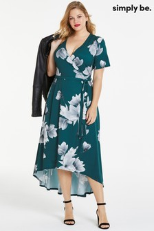 Simply Be Floral Wrap Dress