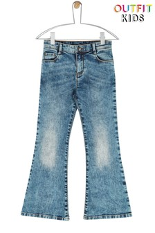Outfit Kids Older Girls Washed Denim Flared Jeans