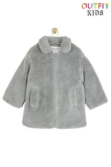 Outfit Kids Toddler Girls Teddy Fleece Coat