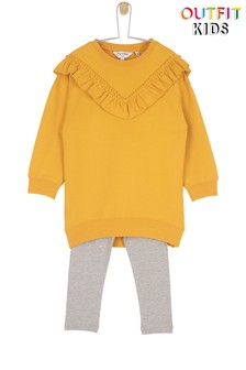 Outfit Kids Toddler Girls Frill Sweat Legging Set