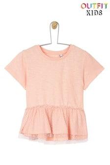 חולצת טי עם רשת ופפלום לפעוטות בנות של Outfit Kids