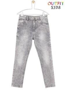 ג'ינס בגזרת סקיני עם אפקט שטיפה לבנים ונערים של Outfit Kids