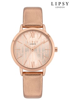 Lipsy Metallic Rose Gold Watch