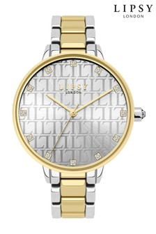 Lipsy Silver and Gold Monogram Watch