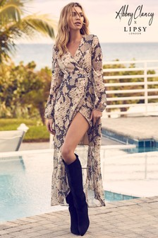 Abbey Clancy x Lipsy Snake Lurex Maxi Dress