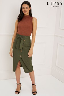 Lipsy Button Through Midi Skirt