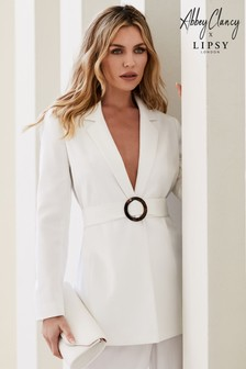 Abbey Clancy x Lipsy O Ring Belted Waist Tailored Jacket