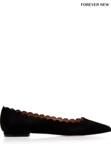 Forever New Scallop Edge Pointed Ballerinas