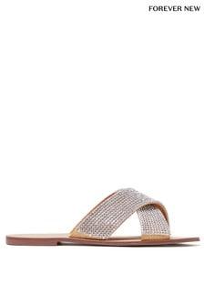 Forever New Diamanté Cross Strap Sandals