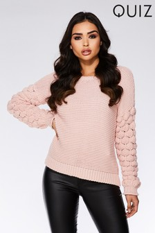 Quiz Knitted Long Sleeve Jumper