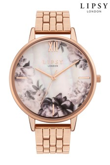 Lipsy Rose Gold Floral Watch