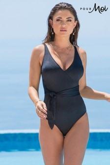 Pour Moi Azure Wrap Control Swimsuit